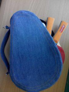 Из старых джинсов сумочка-чехол для ракеток