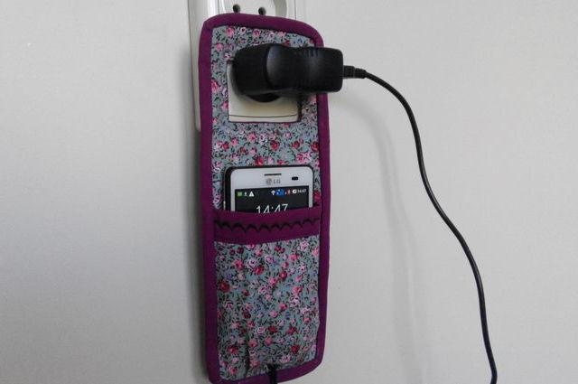 Шьем кармашек держатель для зарядки телефона