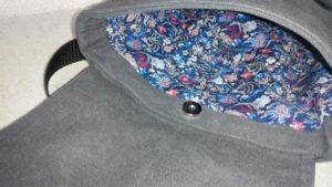 Магнитная кнопка-застежка на рюкзаке