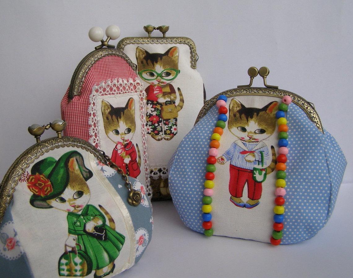 Маленькие косметички с фермуарами «Кошечки Руми»