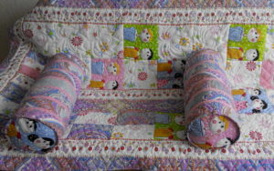 Лоскутное покрывало с подушками