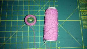 Нитка резинка для сборок на ткани