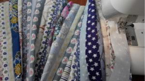 Лоскутное шитье полосок ткани