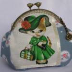 Косметичка с фермуаром Руми в зеленом