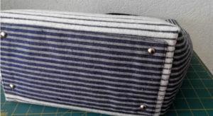 Дно сумки из джинсовой ткани